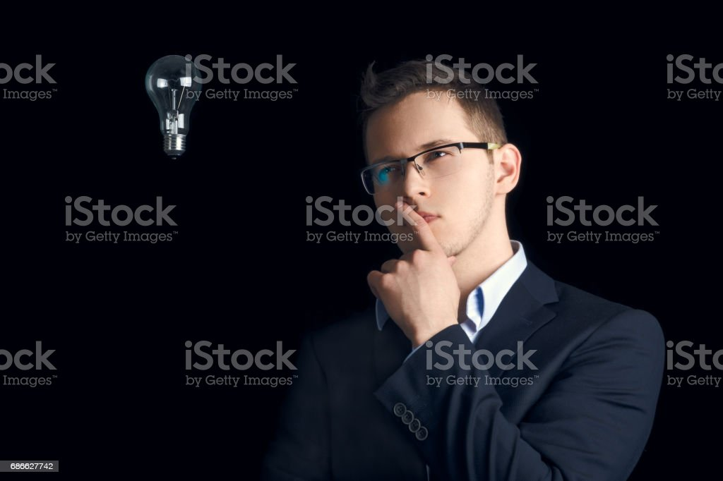 In search of a good idea. stock photo