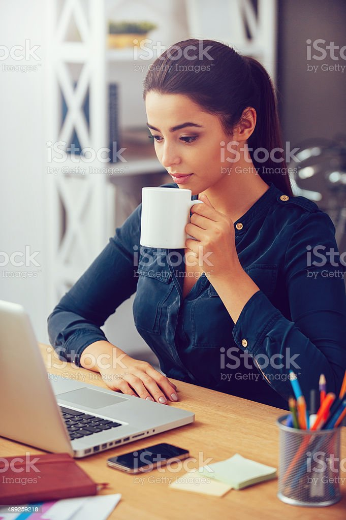 In search of inspiration. stock photo