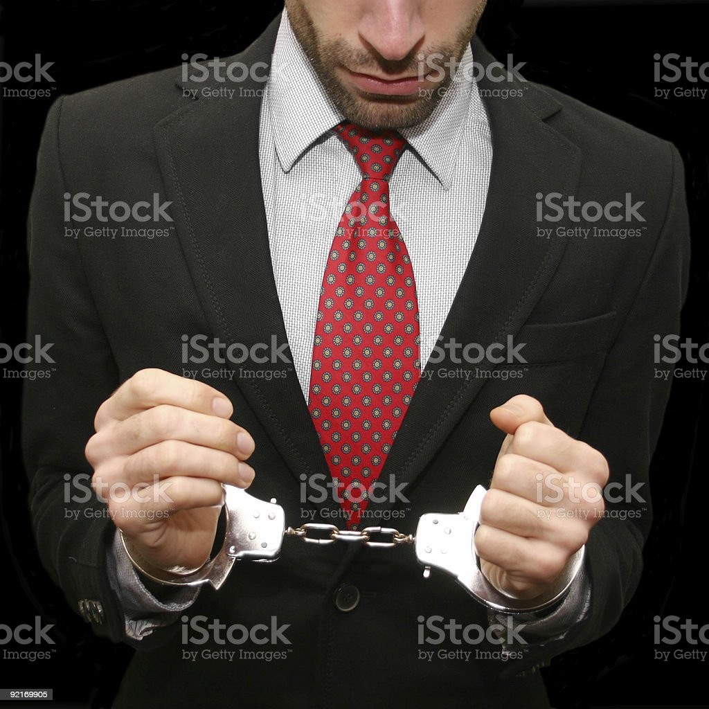 in shackles royalty-free stock photo