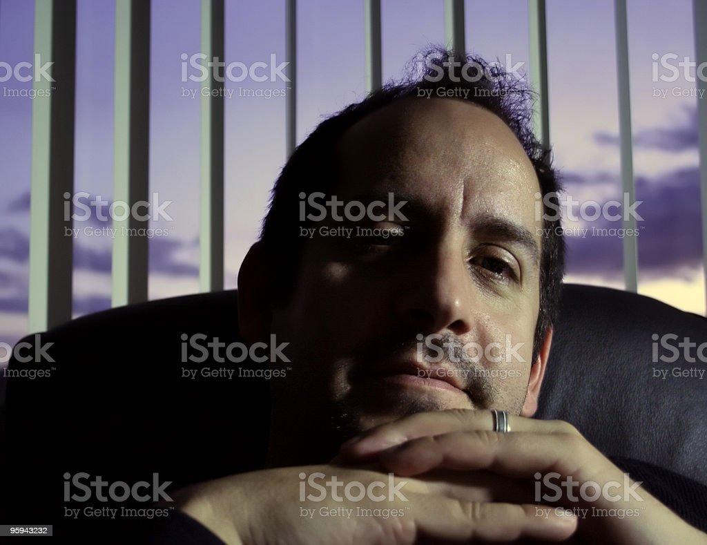 PDG dans les ombres photo libre de droits