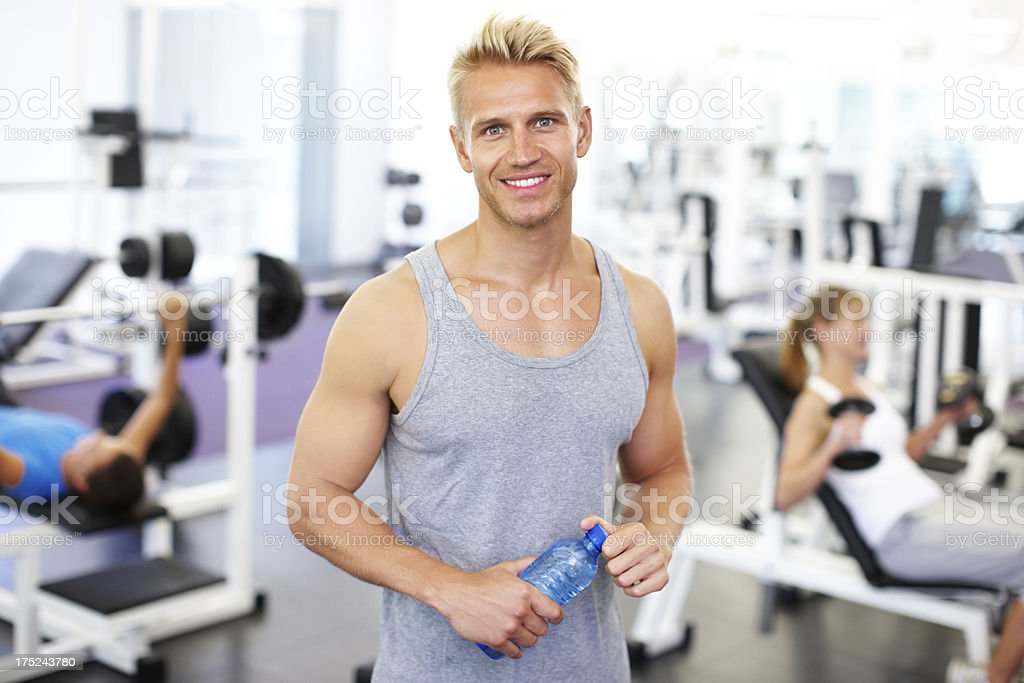 In shape and showing others the way royalty-free stock photo