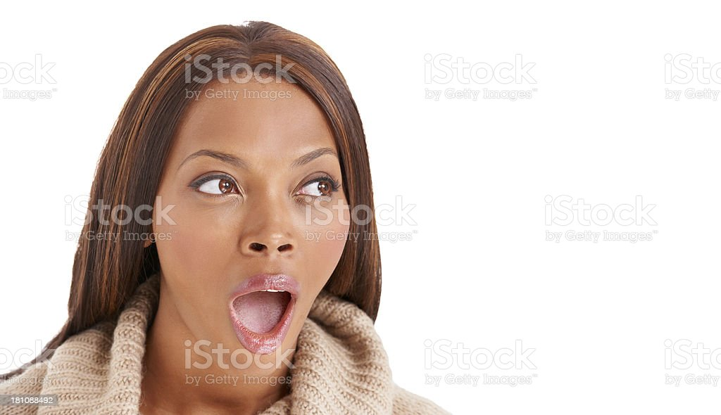 In shock royalty-free stock photo