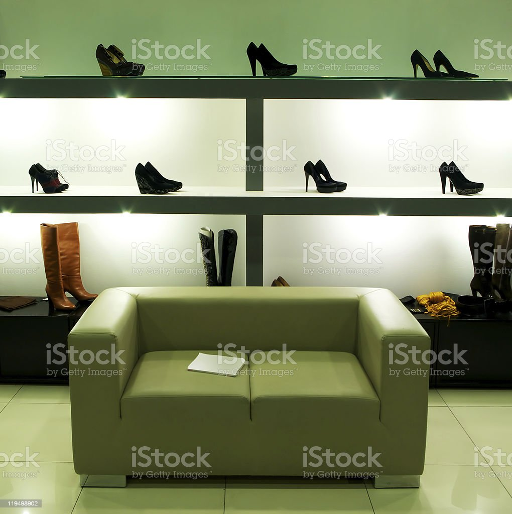 In shoe shop. royalty-free stock photo