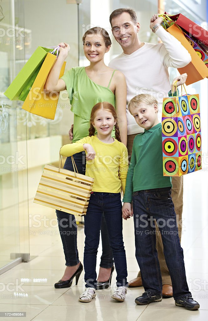 In shopping mall royalty-free stock photo
