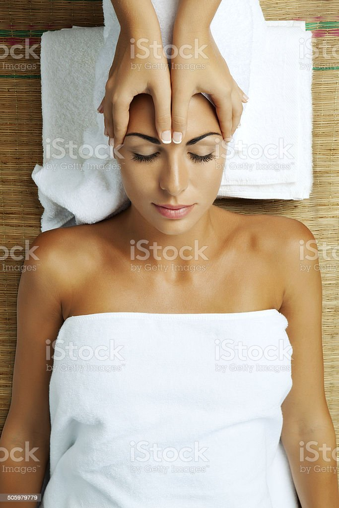 in spa stock photo