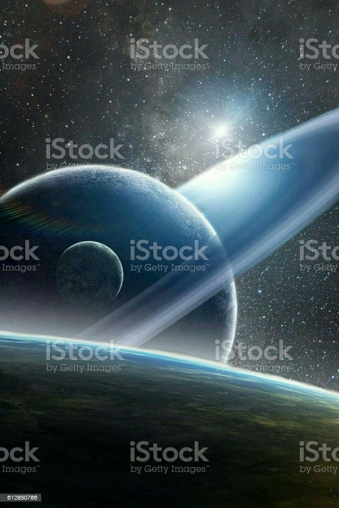 in space stock photo