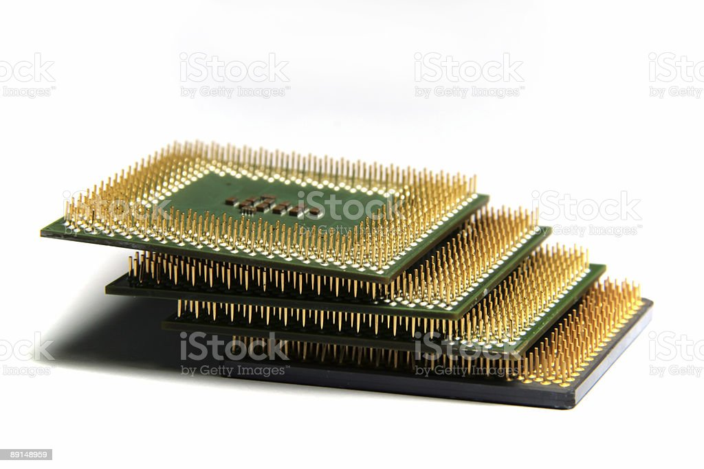 CPU in stack stock photo