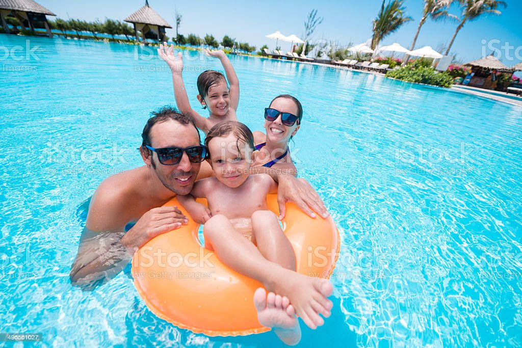 In swimming pool stock photo