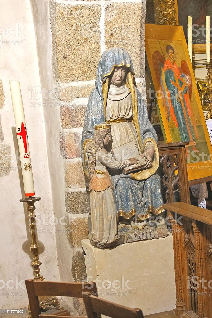 In the abbey church  of Mont Saint Michel. Normandy, France royalty-free stock photo