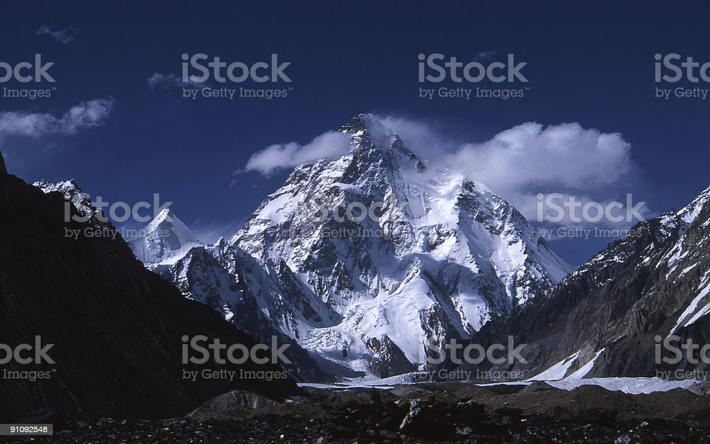 K2 in the afternoon stock photo