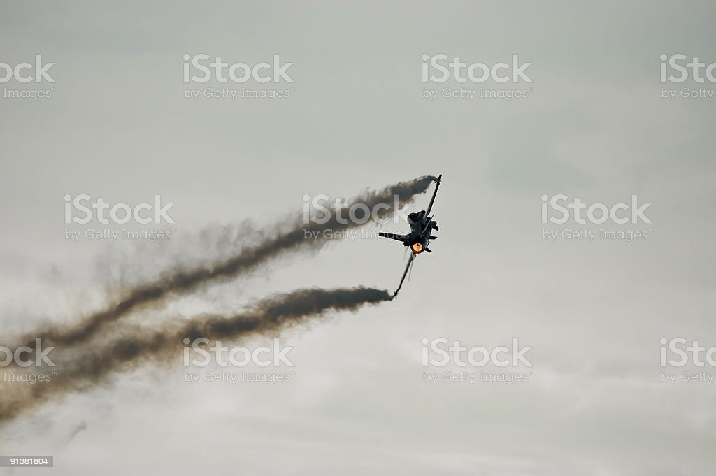 F16 in the air royalty-free stock photo