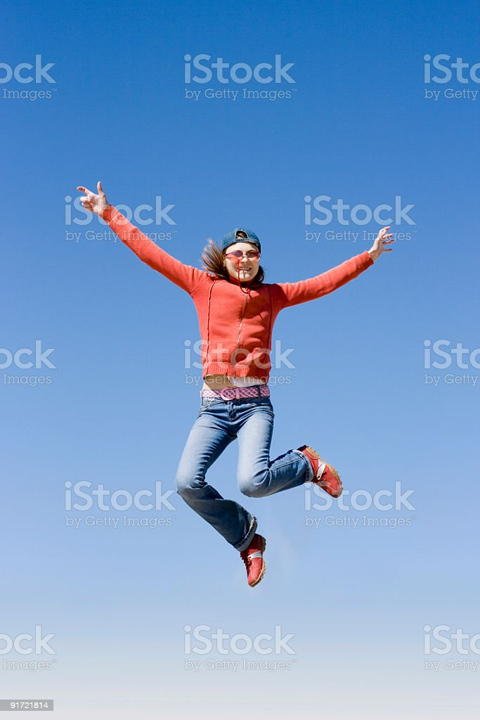 in the air royalty-free stock photo