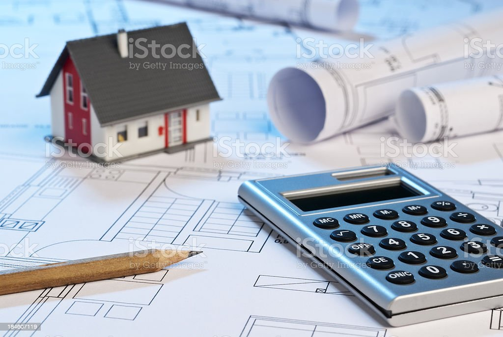 In the architect's office royalty-free stock photo