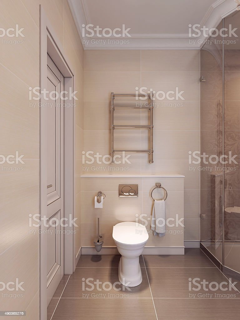 WC in the art deco style. stock photo