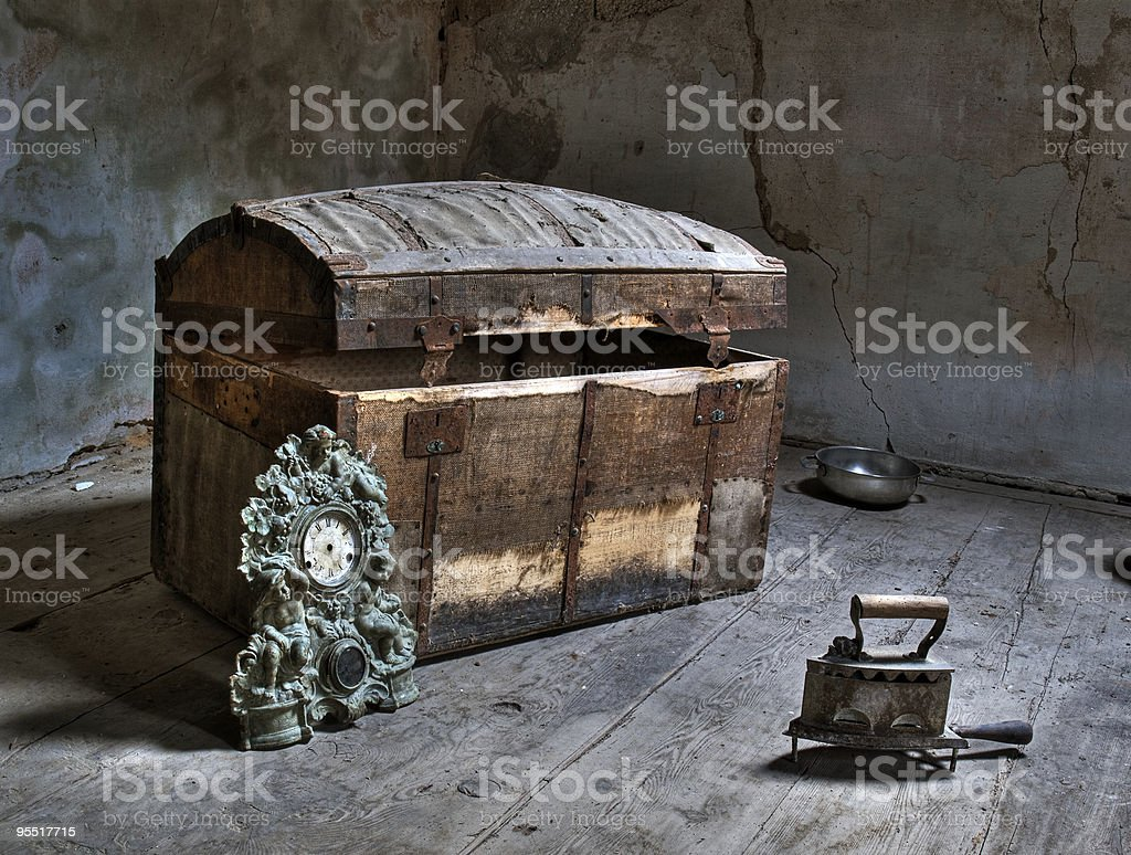 In the attic royalty-free stock photo