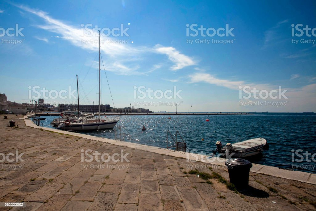 In the bay of Trieste stock photo
