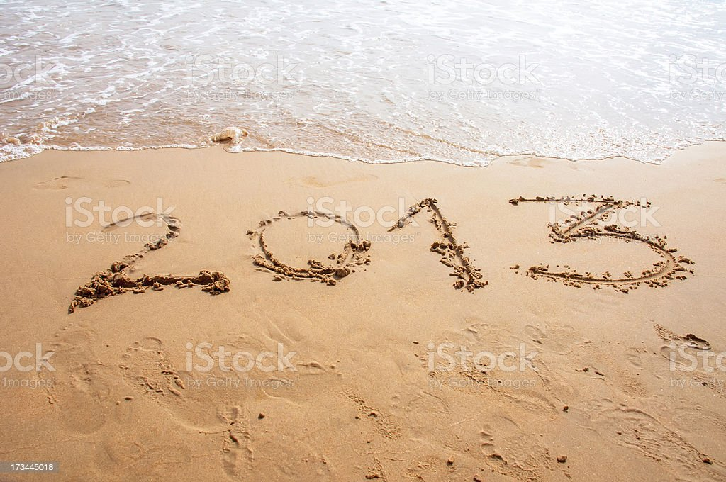 2013 in the beach royalty-free stock photo