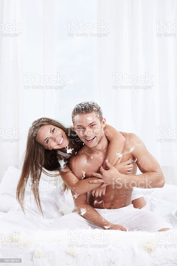 In the bedroom royalty-free stock photo