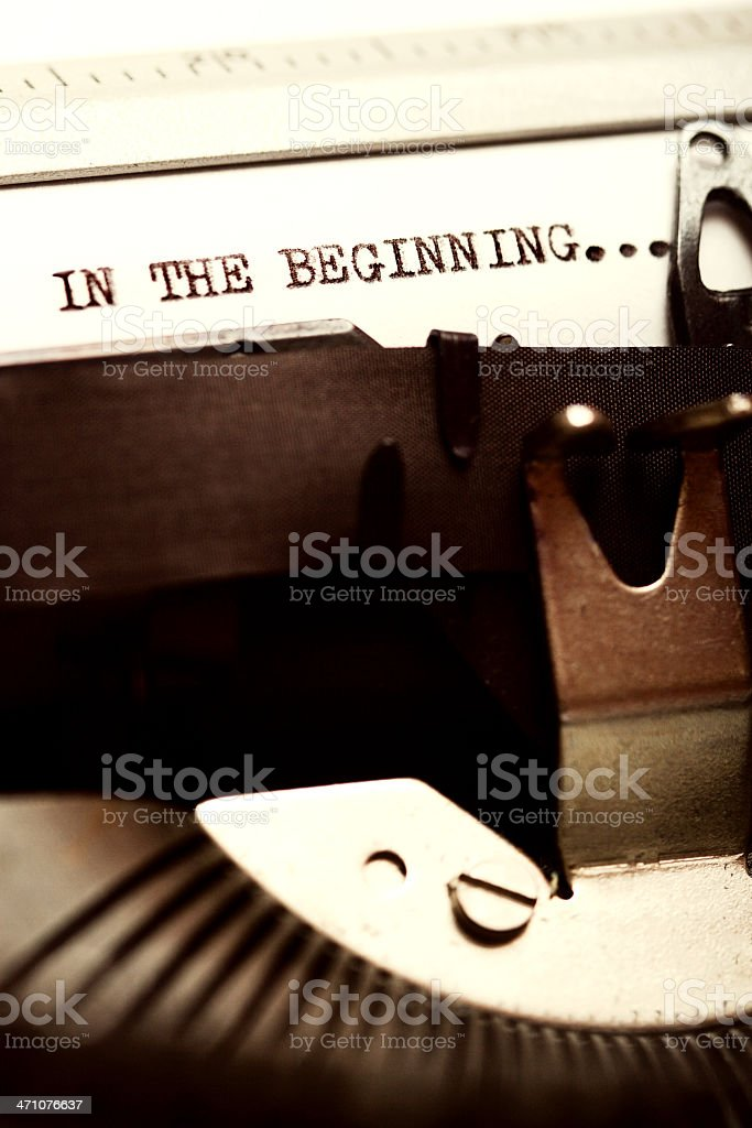 In The Beginning... stock photo