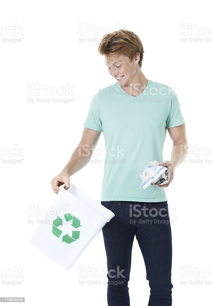 In the bin for a new beginning! royalty-free stock photo