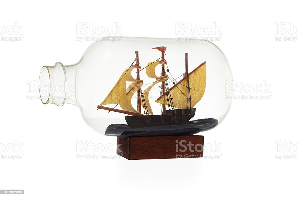In the bottle royalty-free stock photo