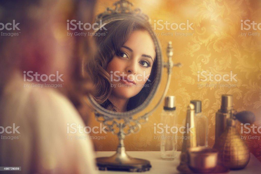 in the boudoir stock photo