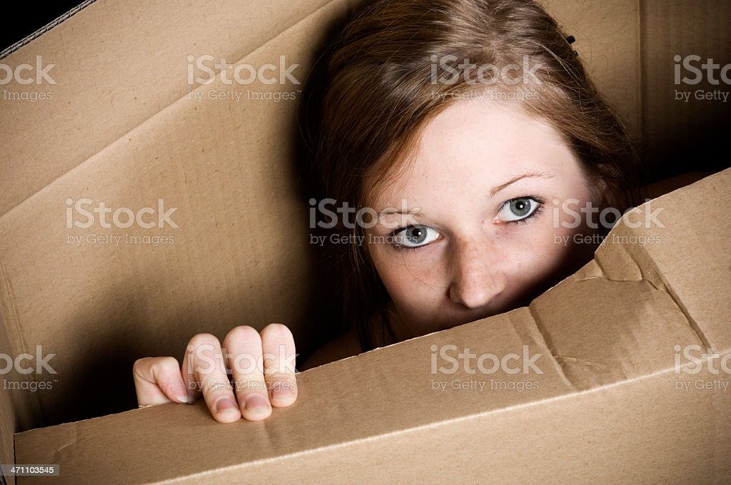 In the box royalty-free stock photo