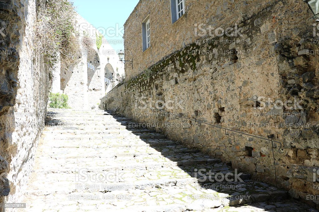 In the Castello Porto Venere, Liguria in Italy stock photo