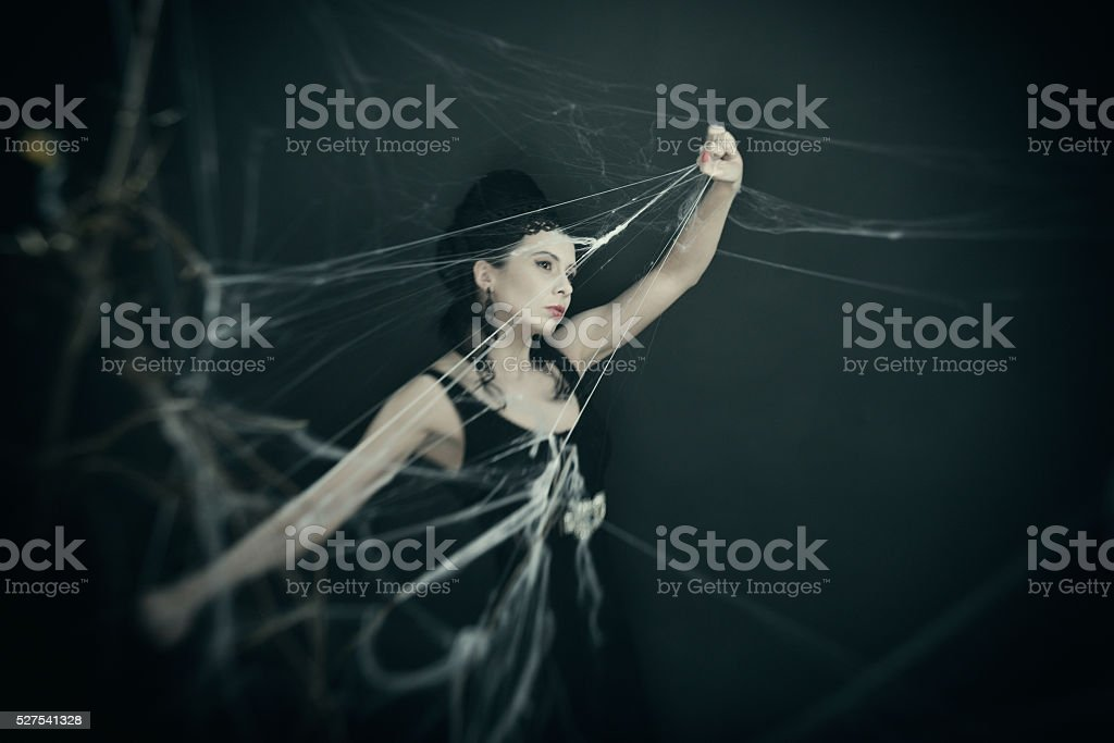 In the cave of the evil witch stock photo