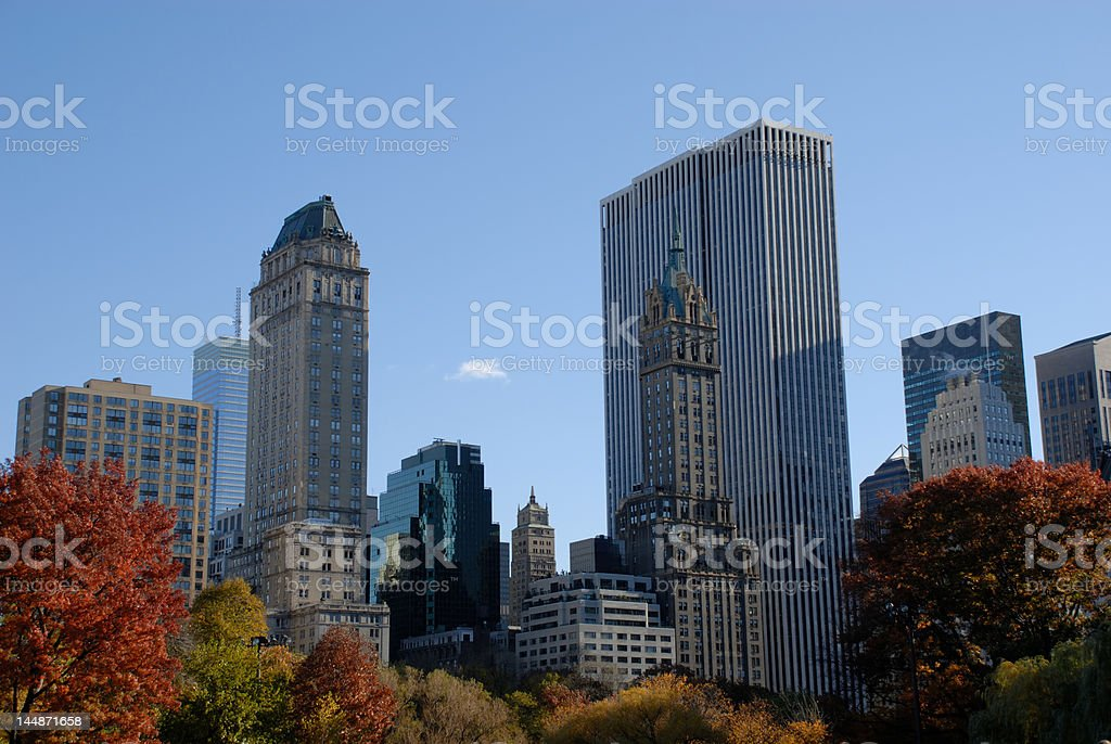 In the Central Park royalty-free stock photo