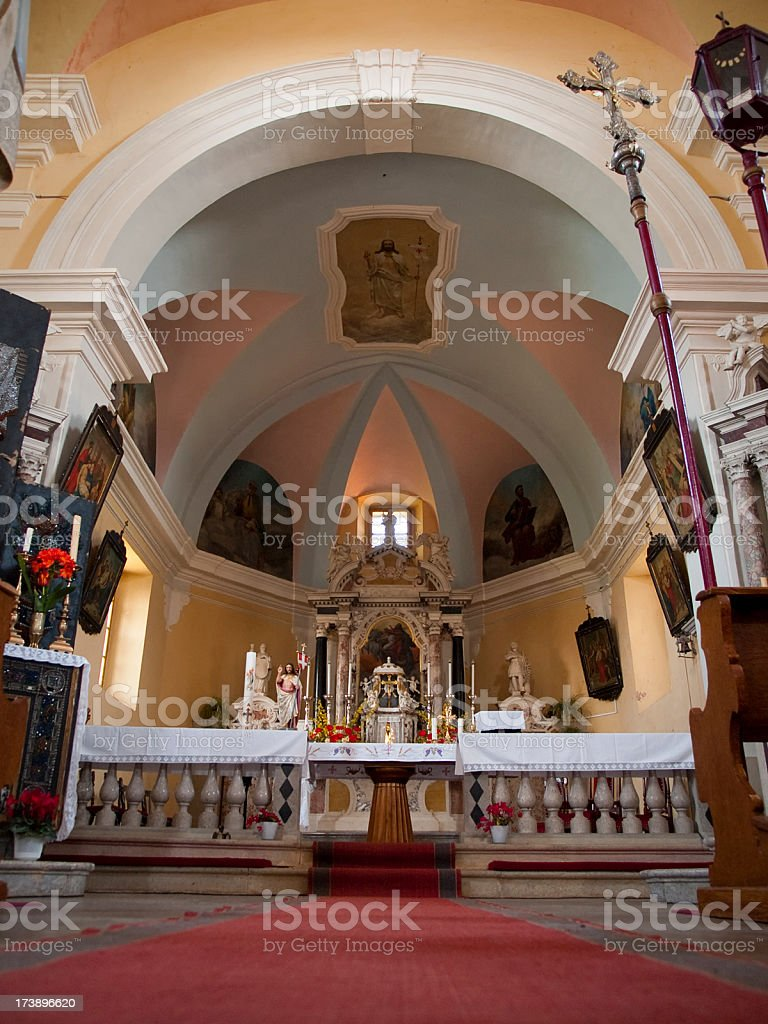 In the church royalty-free stock photo