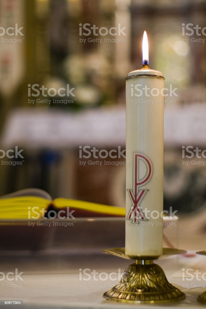 In the church stock photo