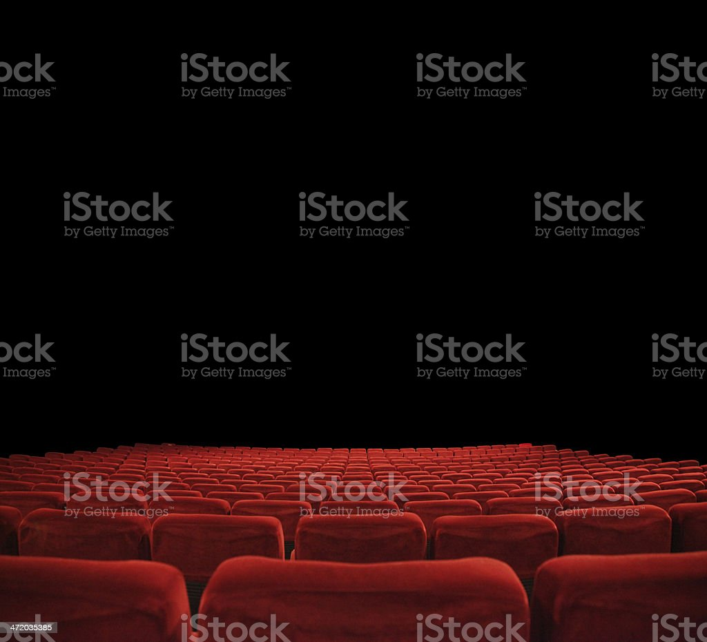 in the cinema stock photo