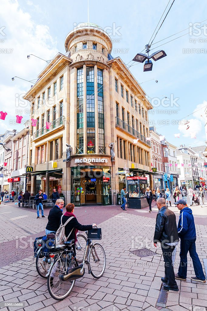 in the city center of Arnhem, Netherlands stock photo