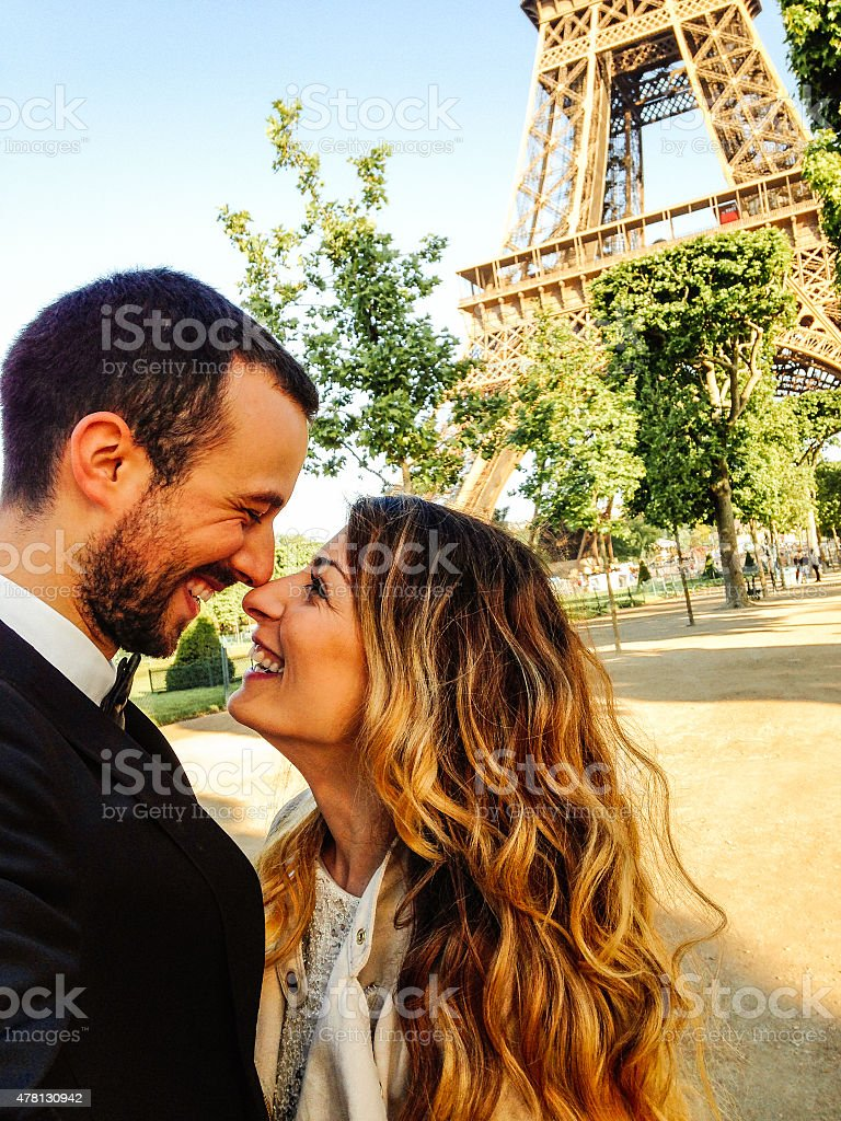 In the city of love stock photo