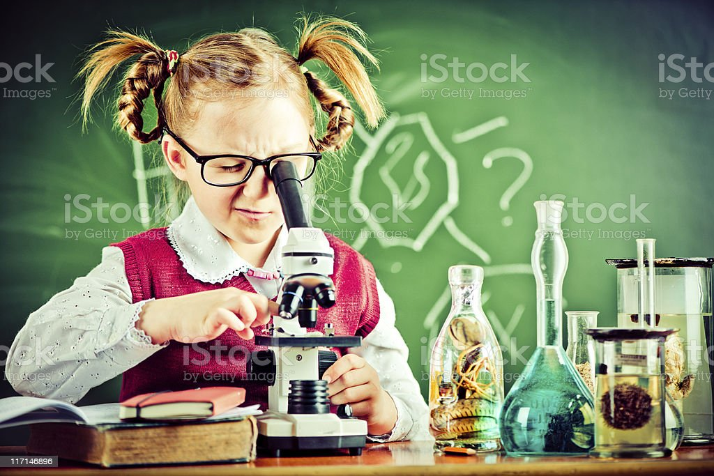 In the classroom royalty-free stock photo