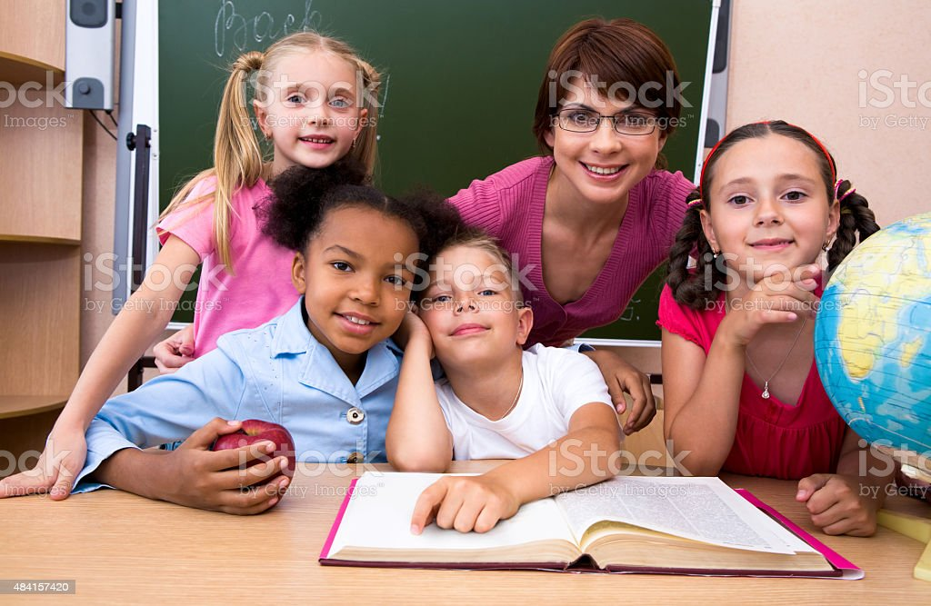 In the classroom stock photo