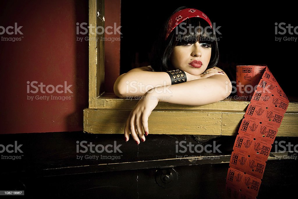 in the cloakroom royalty-free stock photo