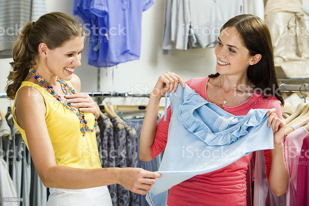 In the clothing department royalty-free stock photo
