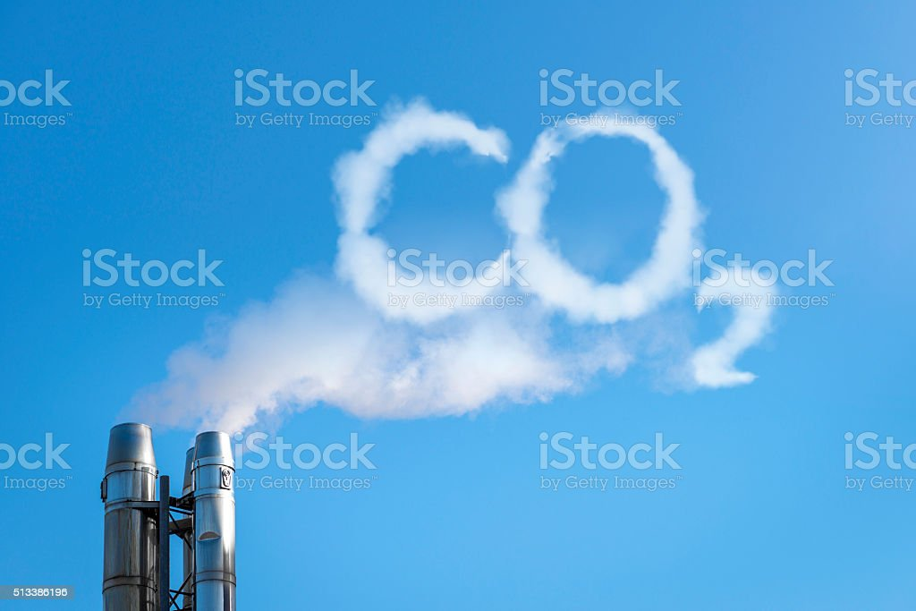 CO2 in the clouds stock photo