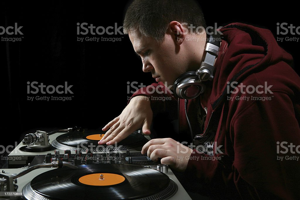 In the club royalty-free stock photo