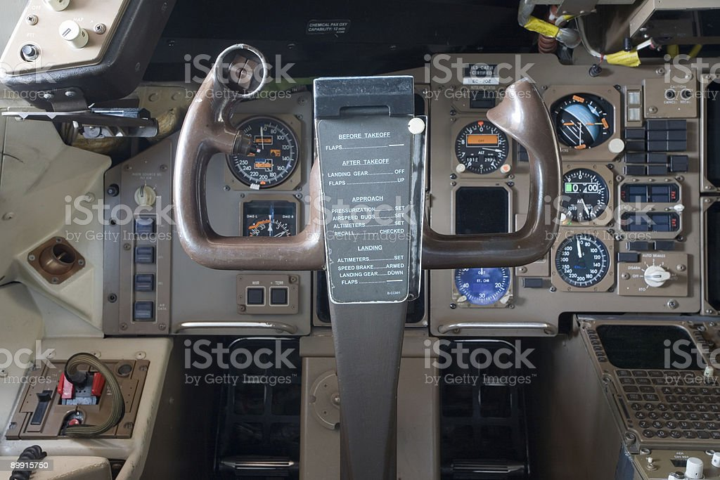 in the cockpit royalty-free stock photo