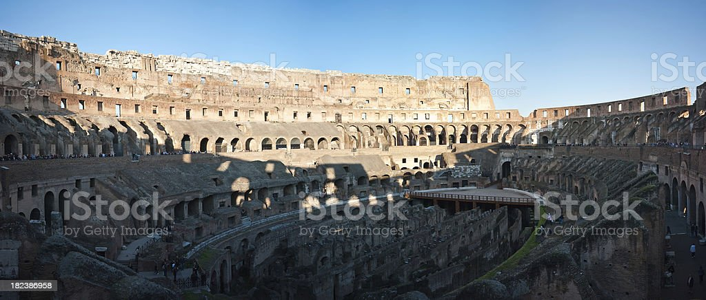 In the Colilseum royalty-free stock photo