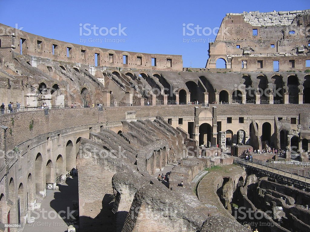 In the Colosseum royalty-free stock photo