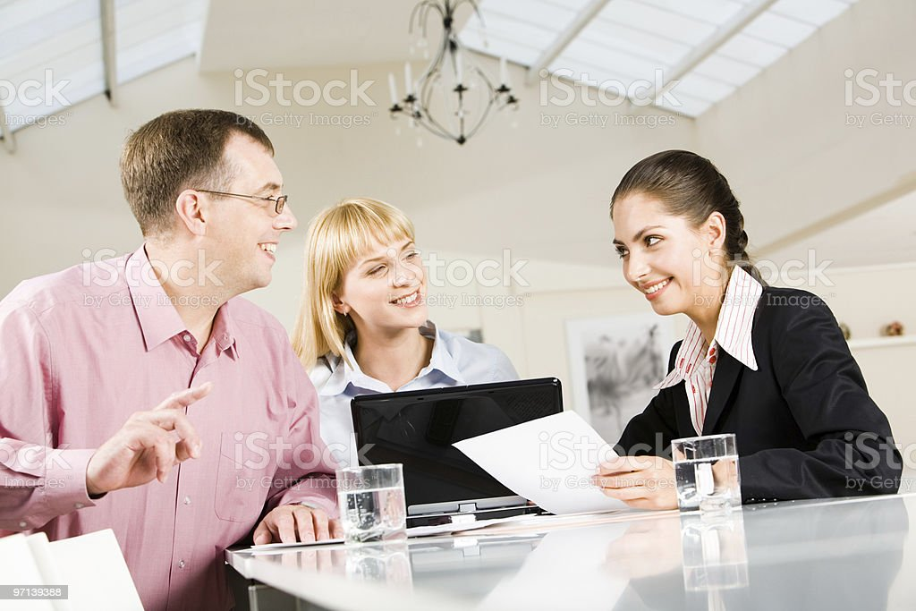 In the conference hall royalty-free stock photo