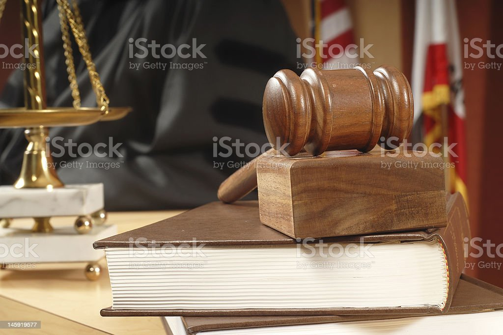 In the court stock photo