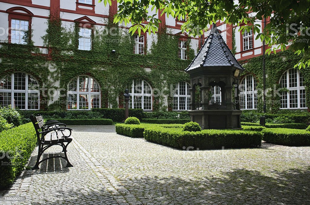 In the courtyard royalty-free stock photo