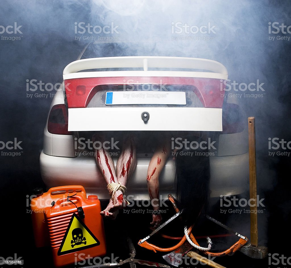 In the Death Car royalty-free stock photo