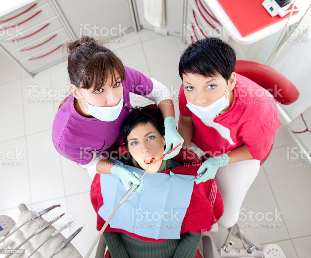 In the dentist's office stock photo
