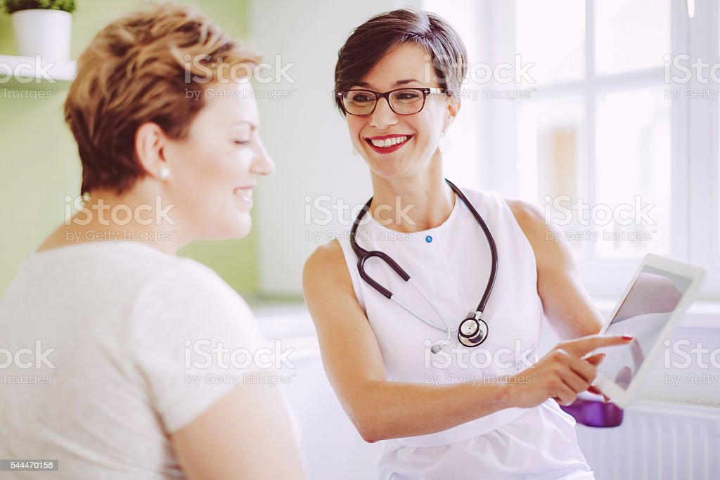 In the doctor's surgery stock photo